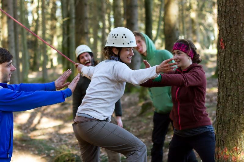 Teamtraining Niedrigseilgarten